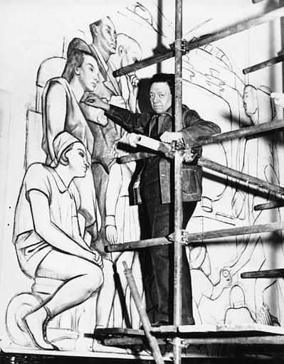 Rivera rockefeller mural for Diego rivera lenin mural