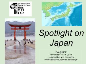 Spotlight on Japan