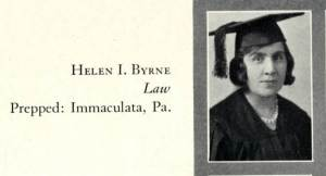 Helen Byrne '31, was one of the few women graduating from USF's night school