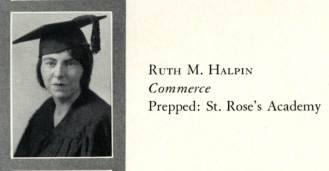 Ruth Halpin graduation photo in The Don, 1931