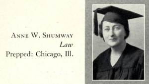 Anne W. Shumway's graduation photo in The Don, 1931. From Gleeson Library's Digital Collections.