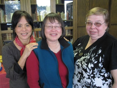 Helen (left) with her friends and colleagues Marion (center) and Irina (right).