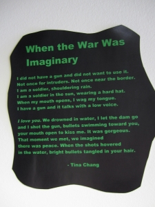 a poem from Tina Chang's 2011 collection, Of Gods & Strangers. Click to enlarge
