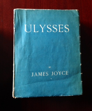 Gleeson's copy of the first English edition of Ulysses, printed in France in 1922.
