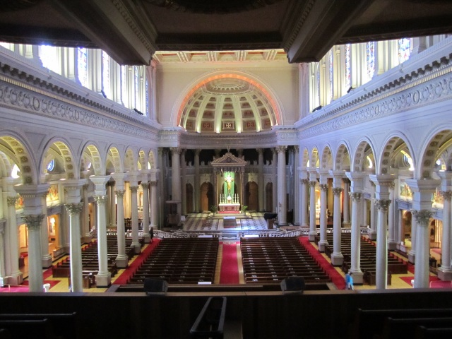 Here is the view from the original choir loft where our journey began
