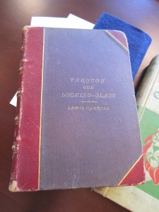 Cover, demonstrating one-half binding as the proportion of the red leather on the spine and corner is 1:1 to the cover material.