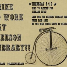 Celebrate the Bay Area's Annual Bike to Work Day with I Bike to work at Gleeson Library, Thursday 5/12!!