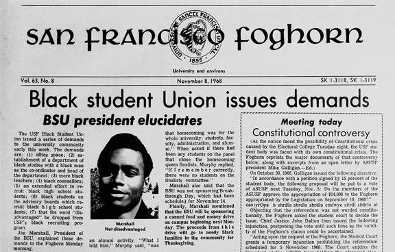 Black student Union issues demands