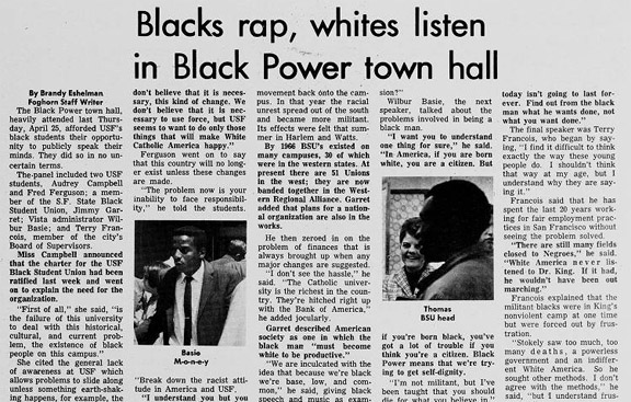Blacks rap, whites listen in Black Power town hall