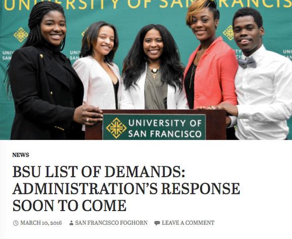 BSU list of demands
