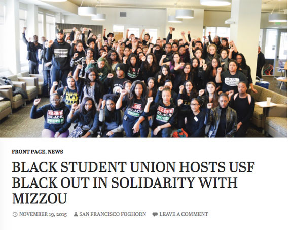 Black Student Union hosts USF Black Out in solidarity with Mizzou