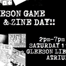 Gleeson Library Game & Zine Day 11/19!!
