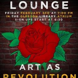 Lyricist Lounge in Gleeson Library's Atrium Friday 2/3!!