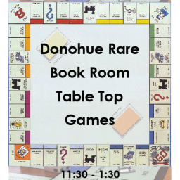 Games in the Rare Book Room, Thursday 4/19!