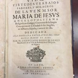 The Vida of María de Jesús