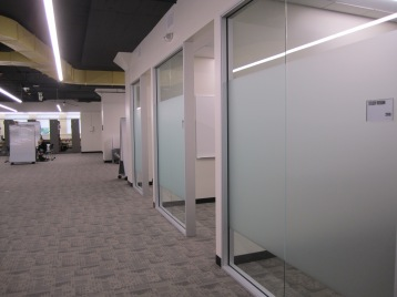 Gleeson 2nd Floor: a view of some new bookable study rooms