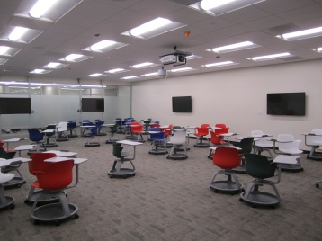 Gleeson 2nd Floor: the new active learning classroom with LCD nodes