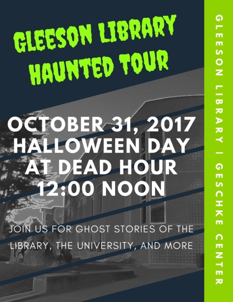 Gleeson library haunted toutr 2017