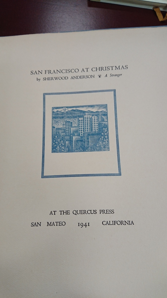 Title page of San Francisco at Christmas