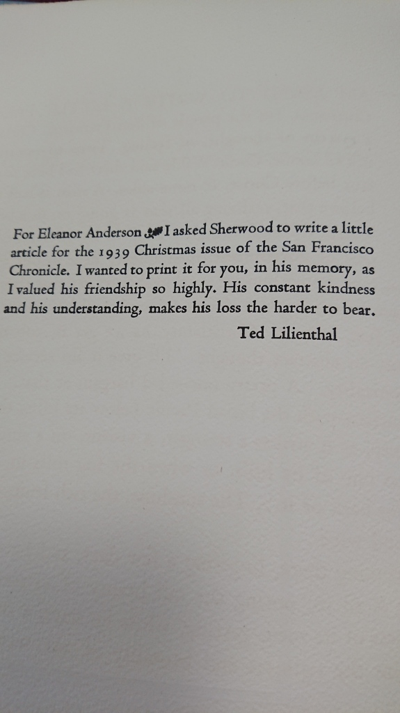 Dedication for Eleanor Anderson by Ted Lilienthal