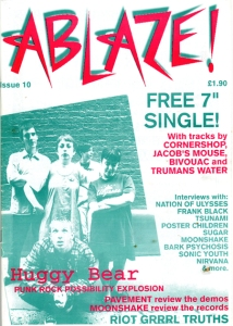 Image of Issue 10 of the punk zine Ablaze!
