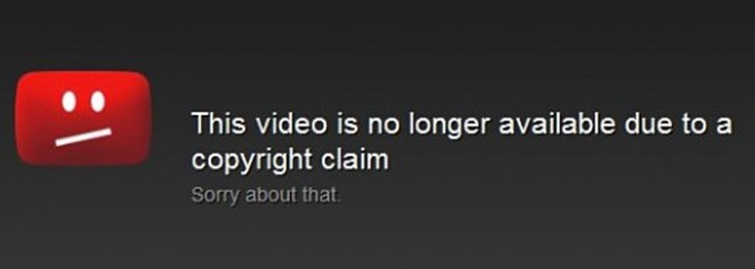 YouTube's copyright disclaimer