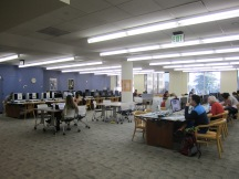 View of west row and middle row of Reference Department computer lab