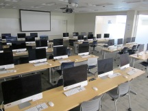 View of iMacs in iMac classroom number 220