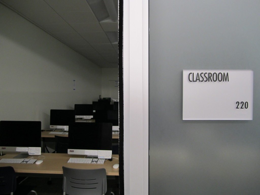 View of iMac classroom 220