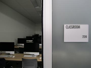 View of iMac classroom numnber 220