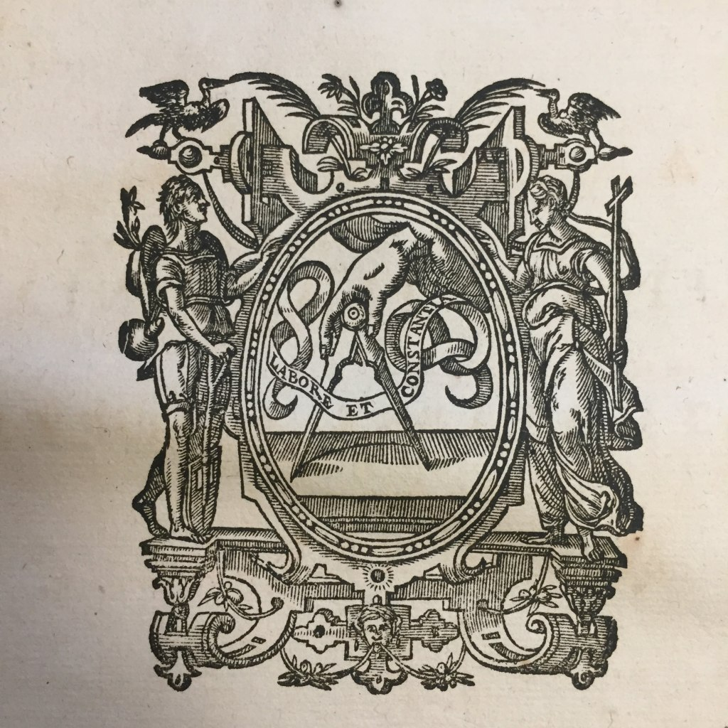 Printer's device on title page from Pontificale Romanum Clementis VIII (1627)