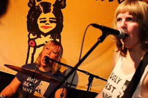 The Riot Grrrls Lucky Malice from Norway at Club W71, Weikersheim