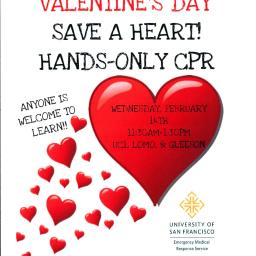 Valentine's Day Save a Heart at Gleeson Library!