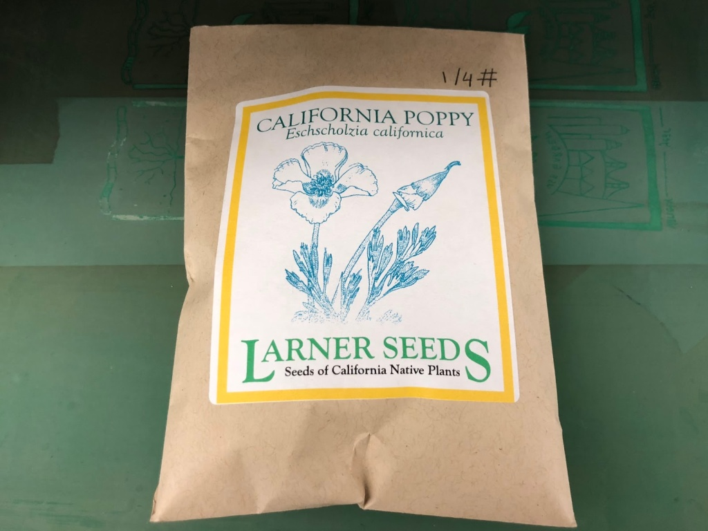 Seed packet of native California plants