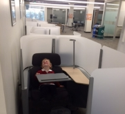Photo of small boy in study pod