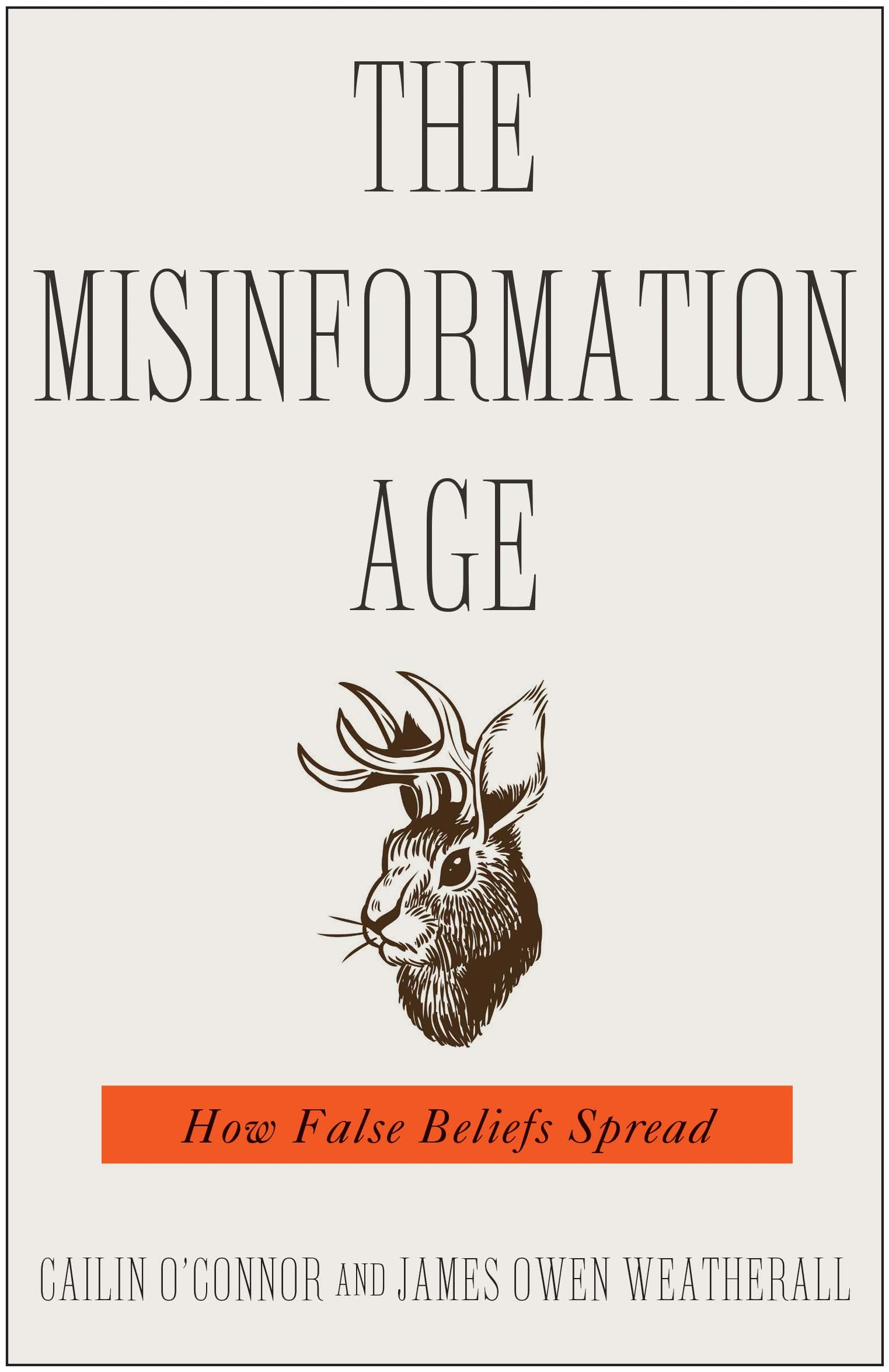 Book cover of The misinformation age