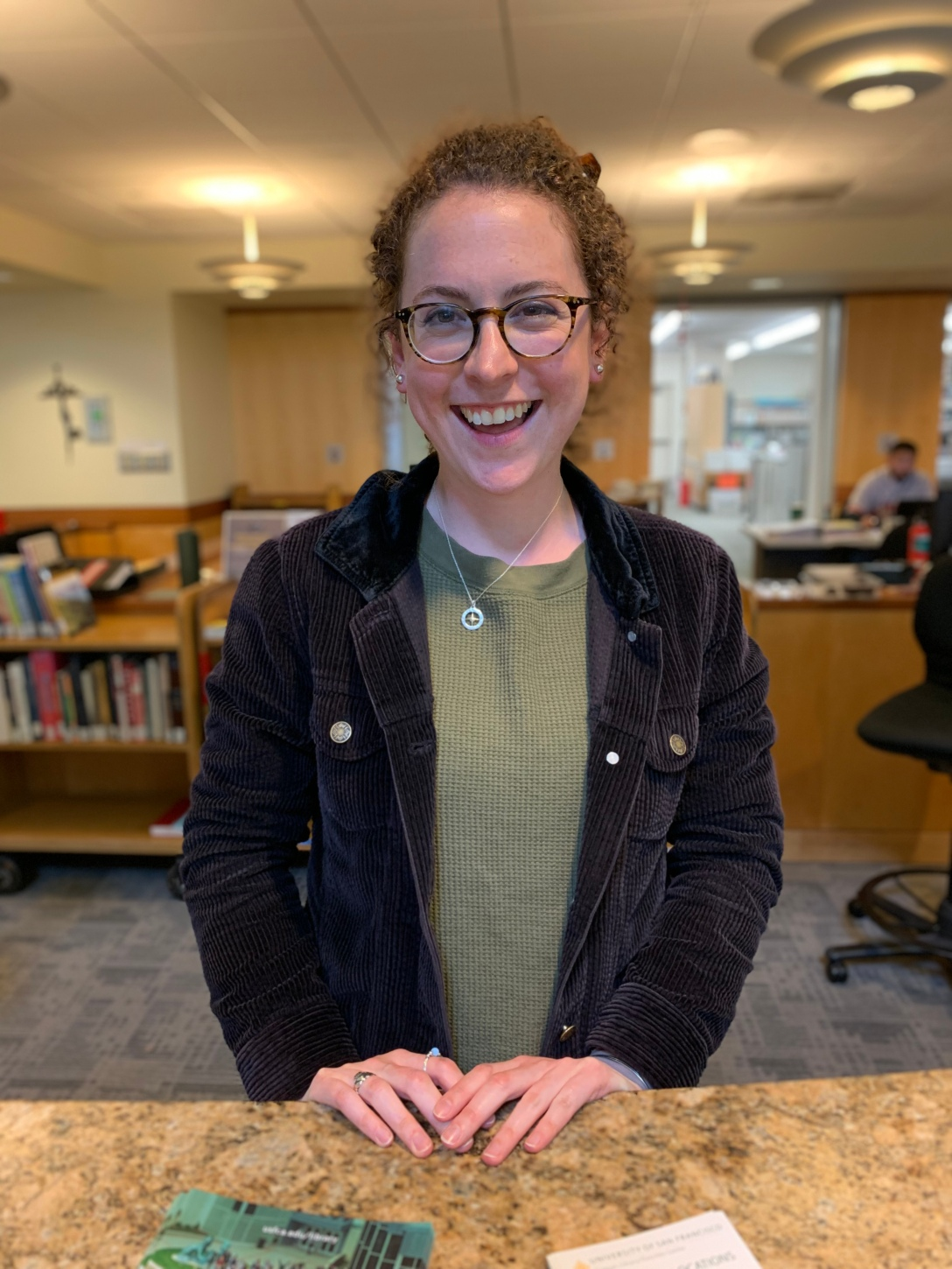 Image of Library Assistant, Katlyn.