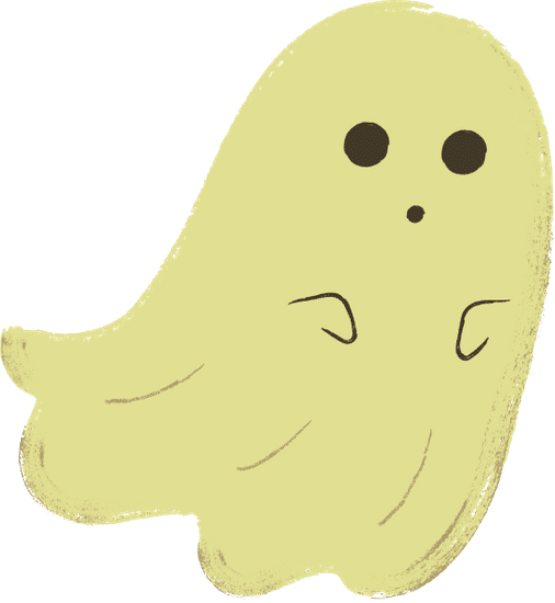 Cartoon image of ghost.
