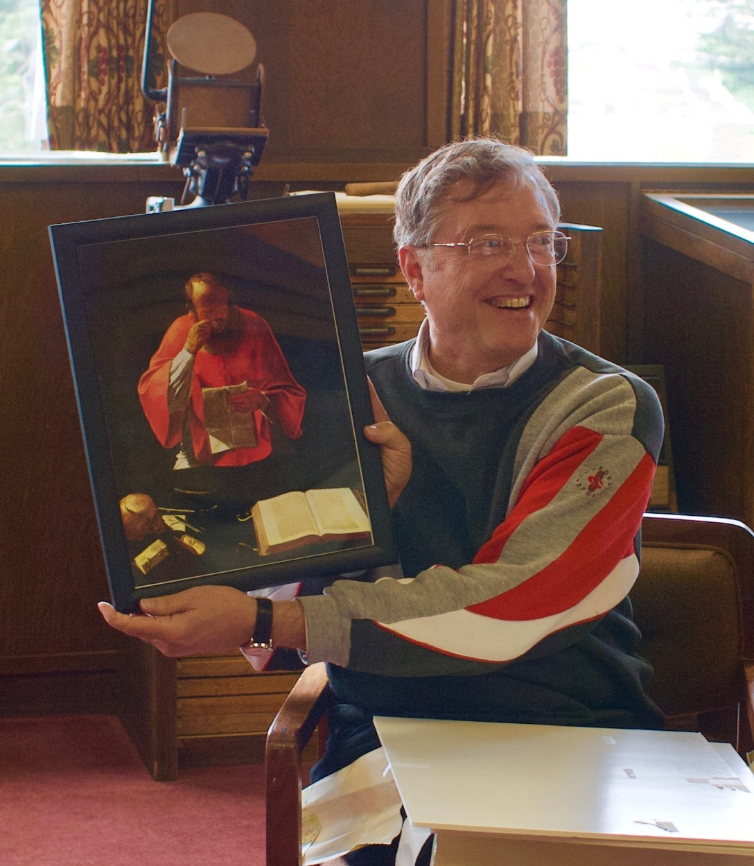 Eric ewen with portrait of st. jerome