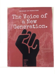 The Voice of a New Generation, example of a group-made zine