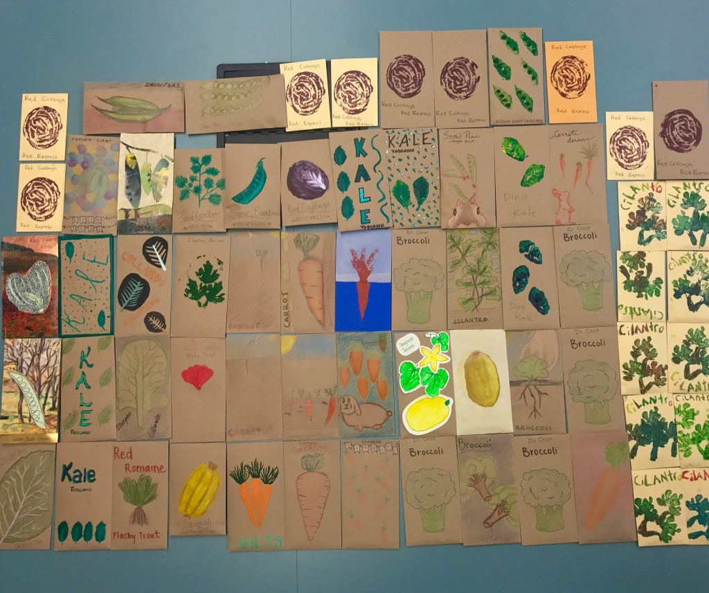 Decorated seed packets